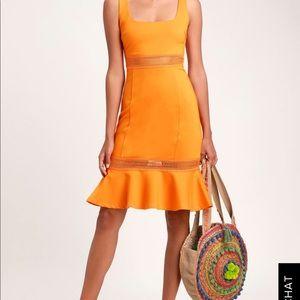 New Orange Lulus Dress